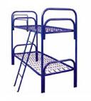 Кровати из металла двухярусные с лестницами для детей оптом